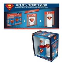 Coffret - dc comics - verre 29 cl + shooter + mini mug superman