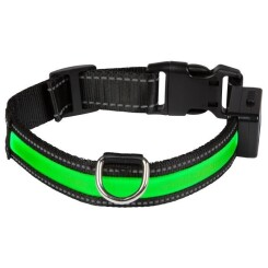 EYENIMAL Collier lumineux Light Collar USB rechargeable S - Vert - Pour chien