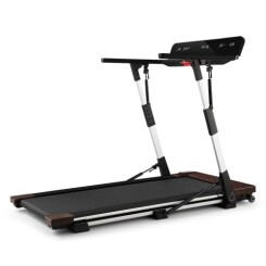 CAPITAL SPORTS Outrun 2XC Tapis de course pliable 2,5 CV - 1-12 km/h - lecteur USB MP3 - design bois