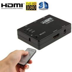 (#23) Full HD 1080P 3D HDMI 3x1 Switch with IR Remote Control