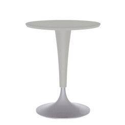 KARTELL table Dr. NA (Gris chaud - Plateau: SMC anti-rayures peint)
