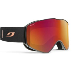 JULBO Masque de Ski Alpha - Noir et Orange Glare Control
