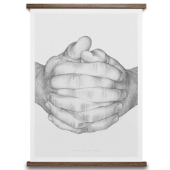 Poster Folded Hands 50x70 cm