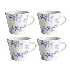 Lot de 4 mugs Havspil 30cl bleu-blanc