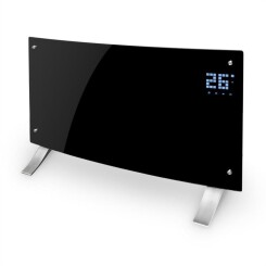 Bornholm Curved Radiateur À Convection Thermostat Timer 2000 W Noir