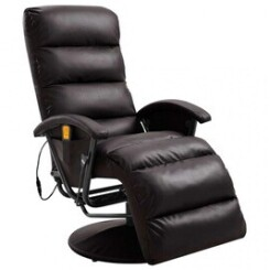 Fauteuil de massage tv marron similicuir - cs2484831