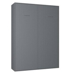 Armoire lit escamotable smart-v2 gris graphite mat couchage 160*200 cm.