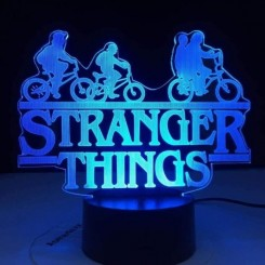 3D Bluetooth Touch Control Lampe 3D Illusion Lampe Led Night Light Stranger Things American Web Tv Series 7 Changement de Couleur