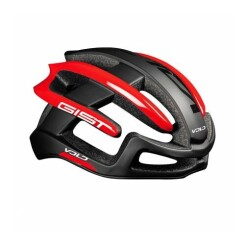 Casque velo adulte gist route volo noir mat-rouge brillant full in-mold taille 56-62 reglage molette 210grs