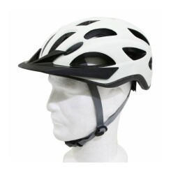 Casque velo city adulte polisport citygo creme taille 52-59 system quick lock avec lumiere integree