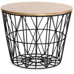Table basse Iconik Interior Table d'appoint basket noir