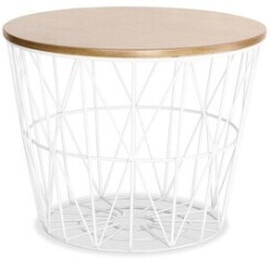 Table basse Iconik Interior Table d'appoint basket blanc