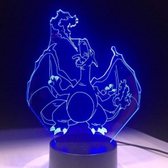 -3D Night Light Pokemon Lampe Charizard Forme 7 Couleurs Changer Table Table Led Lampe Home Decor Cadeau Drop Shipping