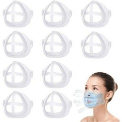 10 PCS Support Masque Silicone Doux Support de Masque Respirant Protection de Maquillage Coque Masque Lavable et Réutilisable