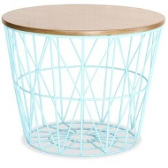 Table basse Iconik Interior Table d'appoint basket bleu clair