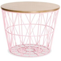 Table basse Iconik Interior Table d'appoint basket rose