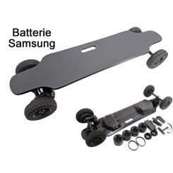 Batterie Samsung 36.6 Inch SUV Off-Road Longboard Electric Skateboard with Dual-Motor Pneumatic Tire Wheels + exchange PU wheelsNoir