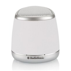 Audiosonic - enceinte portable bluetooth blanc - sk-1505