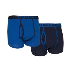 Boxer (Lot de 2) - Homme (Medium) (Bleu) - UTMU154