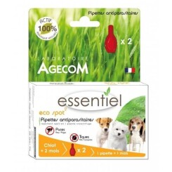 Antiparasitaire Essential Eco Spot petit chien 2 pipettes 1 ml