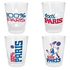 Article de décoration Totalcadeau Verre shooter paris ( lot de 4) shot 100% paris