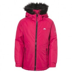 Trespass - Manteau imperméable STAFFIE - Fille (11-12 ans) (Framboise) - UTTP3645