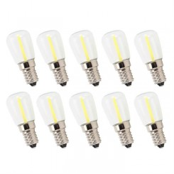 10Pcs Ampoule LED E14 Long Filament Mini LED Ampoules Dimmable Haute Luminosité 1.5W AC230V