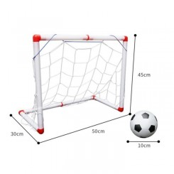 1 ensemble de filet de football portable intérieur durable robuste mini de pliant pour enfants   MINI CAGE - MINI BUT