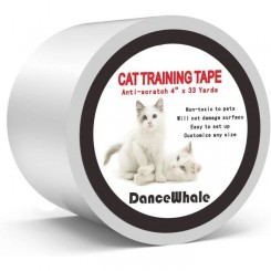 ARBRE A CHAT DanceWhale Ruban adh&eacutesif Anti-Rayures pour Dressage de Chat, 10 cm x 30 m Transparent Double Face Anti-Rayur387
