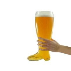 Chope verre bière design botte XXL 800 mL shooter insolite recipient fete